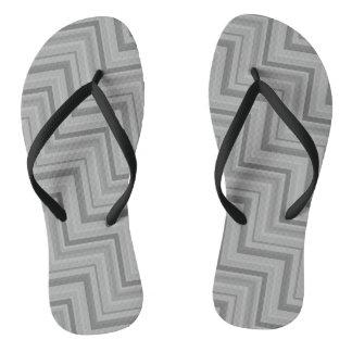 Grey stripes stairs pattern thongs