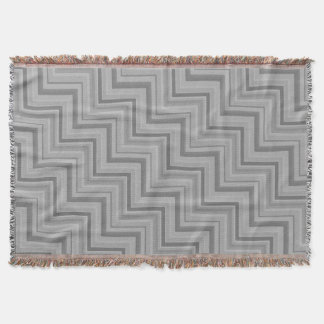 Grey stripes stairs pattern throw blanket