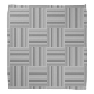 Grey stripes weave pattern bandana