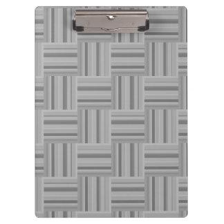Grey stripes weave pattern clipboard