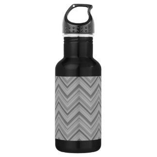 Grey stripes zigzag pattern 532 ml water bottle