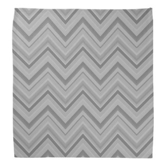 Grey stripes zigzag pattern bandana