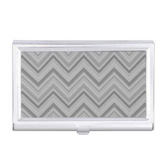 Grey stripes zigzag pattern business card holder