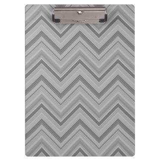 Grey stripes zigzag pattern clipboard