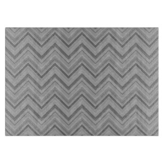 Grey stripes zigzag pattern cutting board