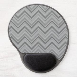 Grey stripes zigzag pattern gel mouse pad