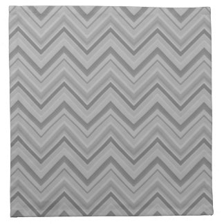 Grey stripes zigzag pattern napkin