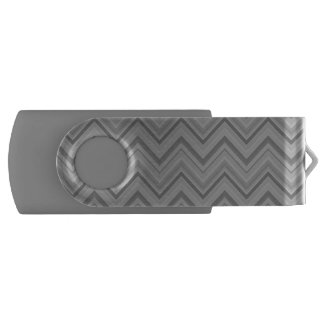 Grey stripes zigzag pattern USB flash drive