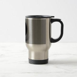 Grey swirling black hole stainless steel travel mug