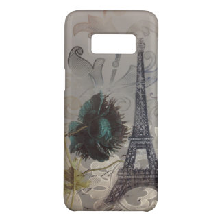 grey swirls modern vintage paris eiffel tower Case-Mate samsung galaxy s8 case