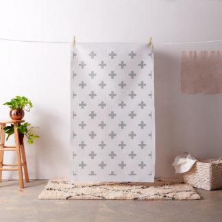 Grey Swiss Cross Modern Pattern Fabric