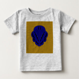Grey t-shirt with Blue Ornaments and Gold