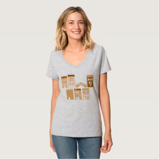 Grey t-shirt with italia village