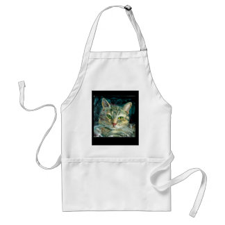 Grey Tabby Cat Apron
