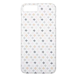 Grey, Tan, Pink Swiss Cross iPhone 7 PLUS Case