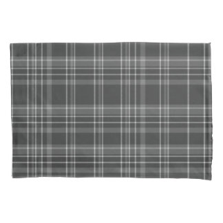 Grey Tartan Pattern Pillowcase