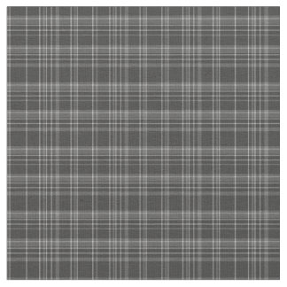 Grey Tartan Rustic Pattern Fabric