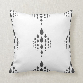 Grey Teardrop Chandelier Throw Pillow