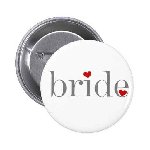 Grey Text Bride 6 Cm Round Badge