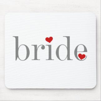 Grey Text Bride Mouse Pad