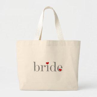 Grey Text Bride Tote Bags