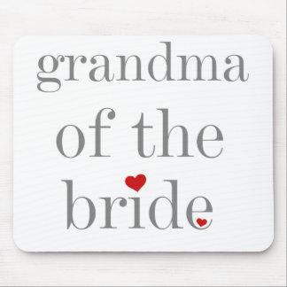 Grey Text Grandma of Bride Mouse Pad
