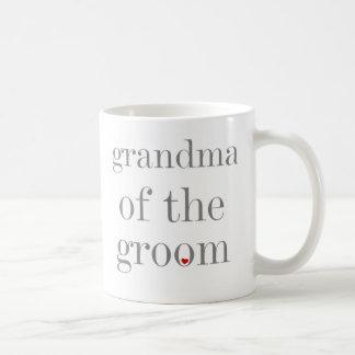 Grey Text Grandma of Groom Coffee Mug