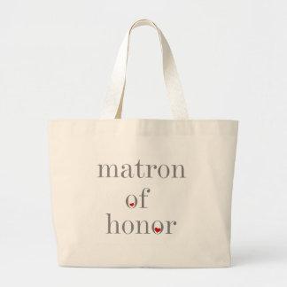 Grey Text Matron of Honour Canvas Bag