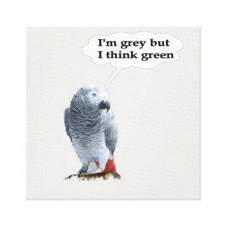 Grey thinks green.jpg canvas prints