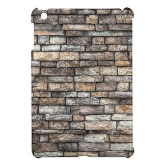 Grey tiles brick wall iPad mini cover