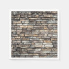 Grey tiles brick wall paper napkin
