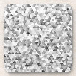Grey triangle pattern coaster