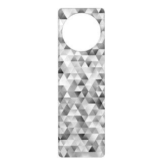 Grey triangle pattern door hanger