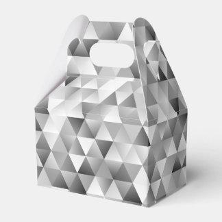 Grey triangle pattern favour box