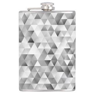 Grey triangle pattern hip flask
