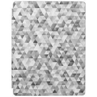 Grey triangle pattern iPad cover