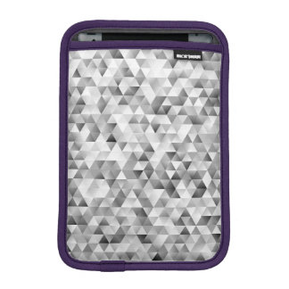Grey triangle pattern iPad mini sleeve