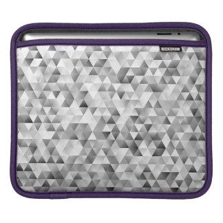 Grey triangle pattern iPad sleeve