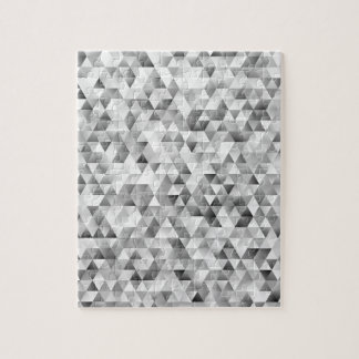 Grey triangle pattern jigsaw puzzle
