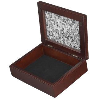 Grey triangle pattern keepsake box