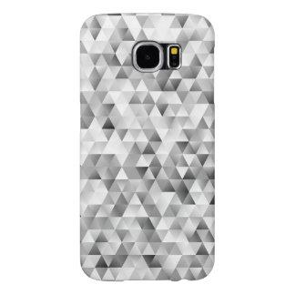 Grey triangle pattern samsung galaxy s6 cases