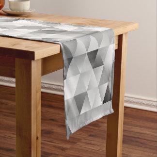 Grey triangle pattern short table runner