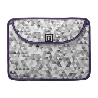Grey triangle pattern sleeve for MacBooks