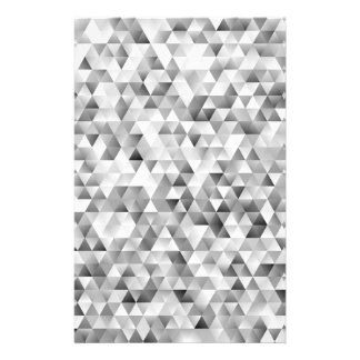 Grey triangle pattern stationery