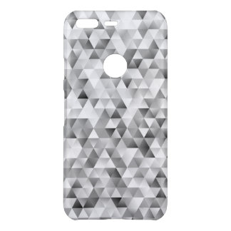 Grey triangle pattern uncommon google pixel case