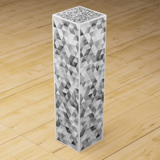 Grey triangle pattern wine box
