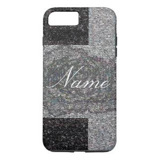 Grey Tweed with name iPhone 8 Plus/7 Plus Case