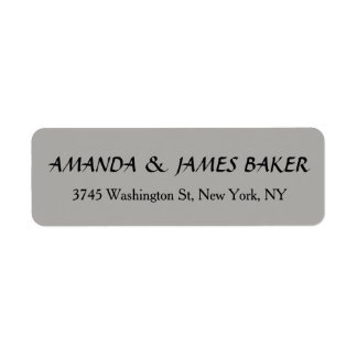 Grey Unique Creative Clean Stylish Family Name Return Address Label