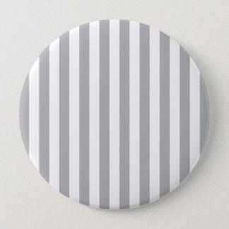 Grey Vertical Stripes 10 Cm Round Badge