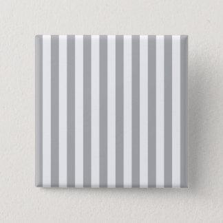 Grey Vertical Stripes 15 Cm Square Badge